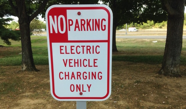 Sign, Electric Vehicle Charging Only